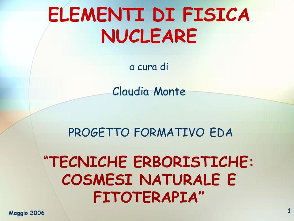 Maggio 20062 Parte 1 LATOMO Premesse storiche Primi esperimenti Le particelle subatomiche Modelli atomici
