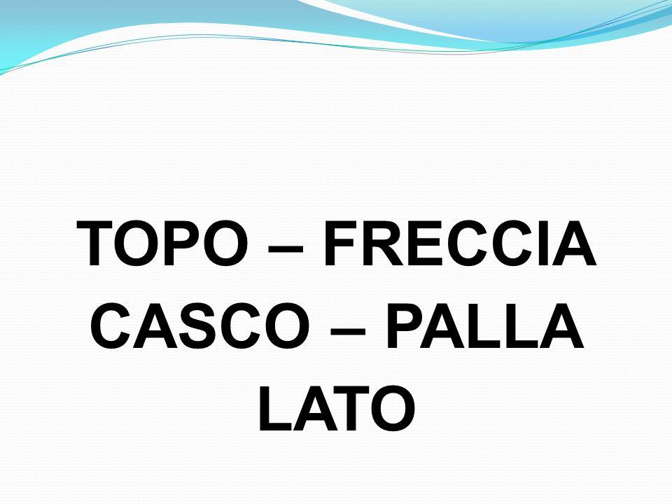 TOPO – FRECCIA CASCO – PALLA LATO