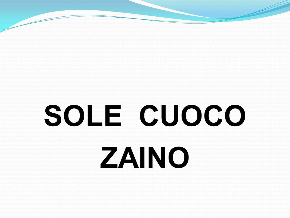 SOLE CUOCO ZAINO