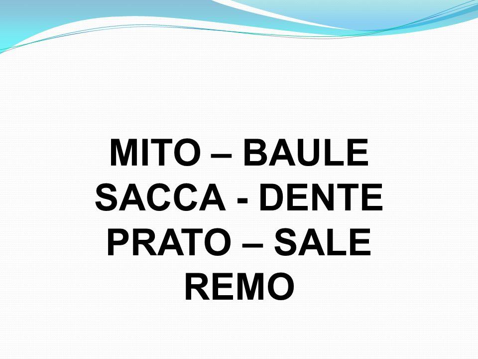 MITO – BAULE SACCA - DENTE PRATO – SALE REMO