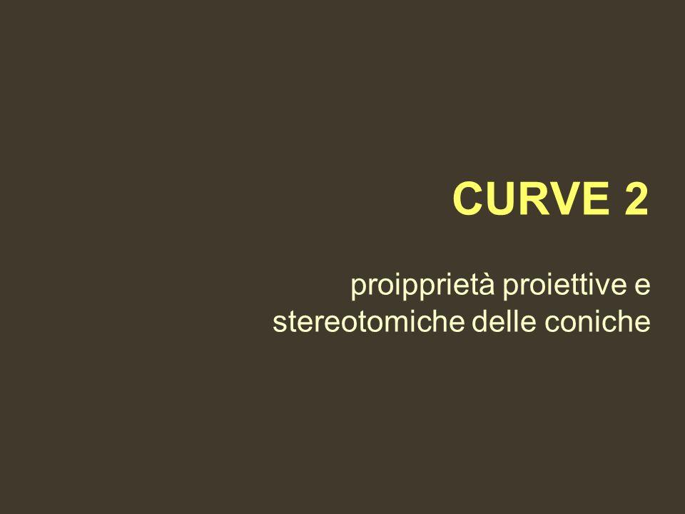 CURVE 2 proipprietà proiettive e stereotomiche delle coniche