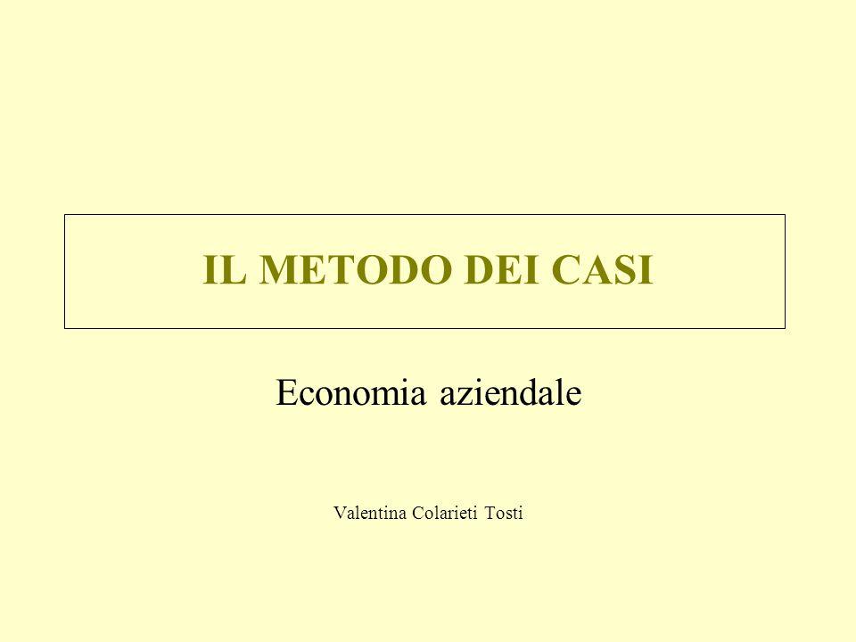 IL METODO DEI CASI Economia aziendale Valentina Colarieti Tosti
