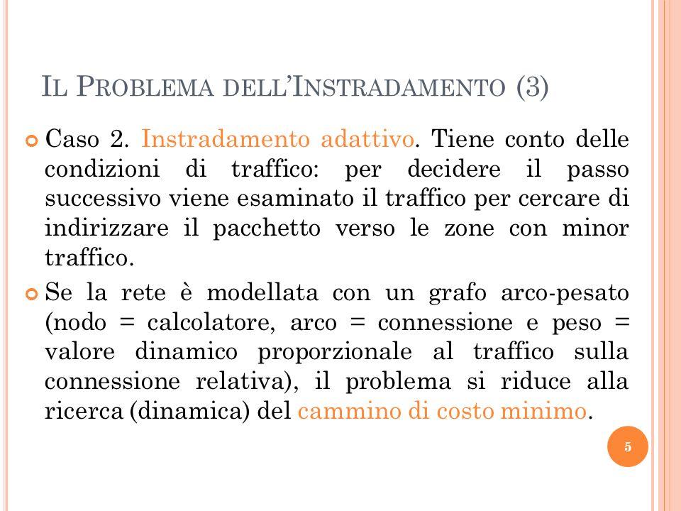 I L P ROBLEMA DELL I NSTRADAMENTO (3) Caso 2.Instradamento adattivo.