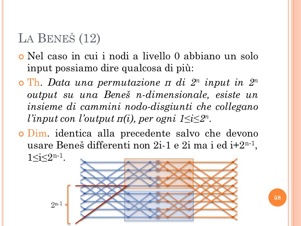 Nel caso in cui i nodi a livello 0 abbiano un solo input possiamo dire qualcosa di più: Th.