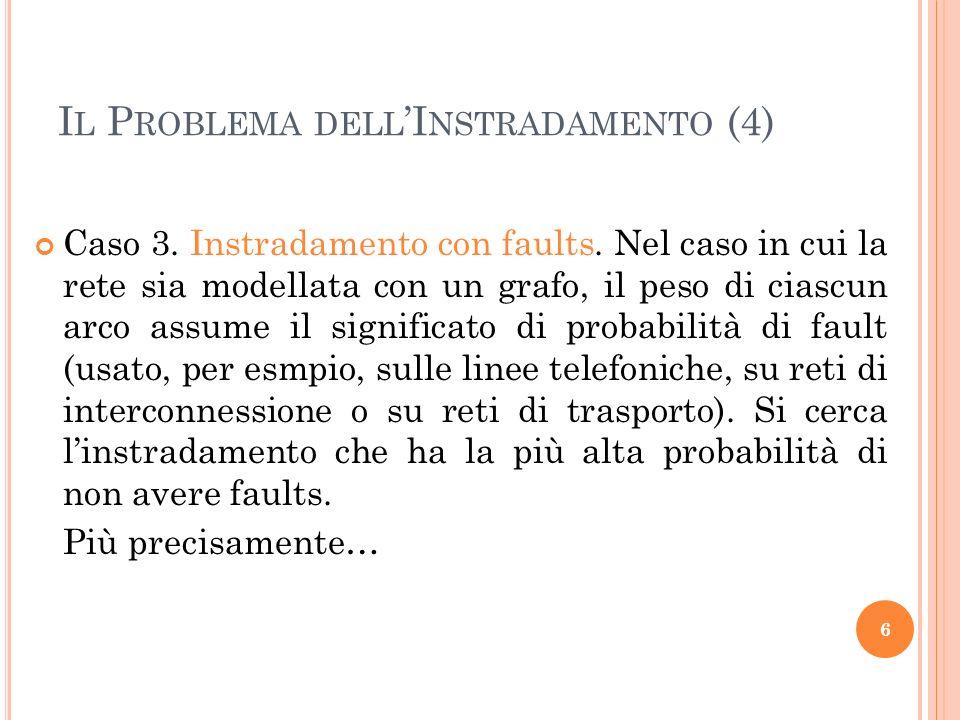 I L P ROBLEMA DELL I NSTRADAMENTO (4) Caso 3.Instradamento con faults.