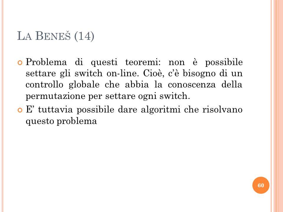 Problema di questi teoremi: non è possibile settare gli switch on-line.