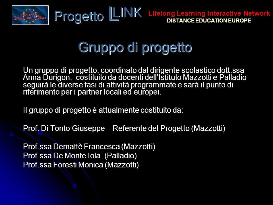 Gruppo di progetto Un gruppo di progetto, coordinato dal dirigente scolastico dott.ssa Anna Durigon, costituito da docenti dellIstituto Mazzotti e Pal