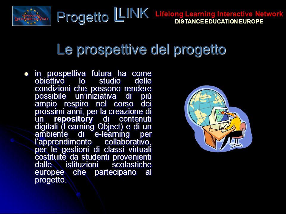 Le prospettive del progetto in prospettiva futura ha come obiettivo lo studio delle condizioni che possono rendere possibile uniniziativa di più ampio