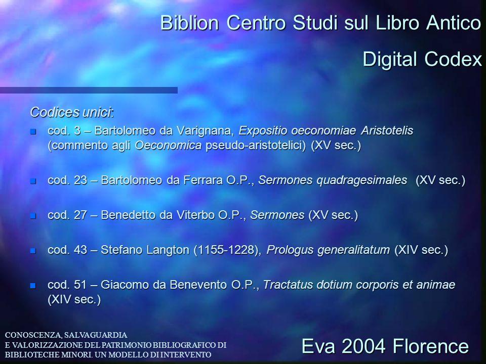 Biblion Centro Studi sul Libro Antico Codices unici: n cod. 3 – Bartolomeo da Varignana, Expositio oeconomiae Aristotelis (commento agli Oeconomica ps