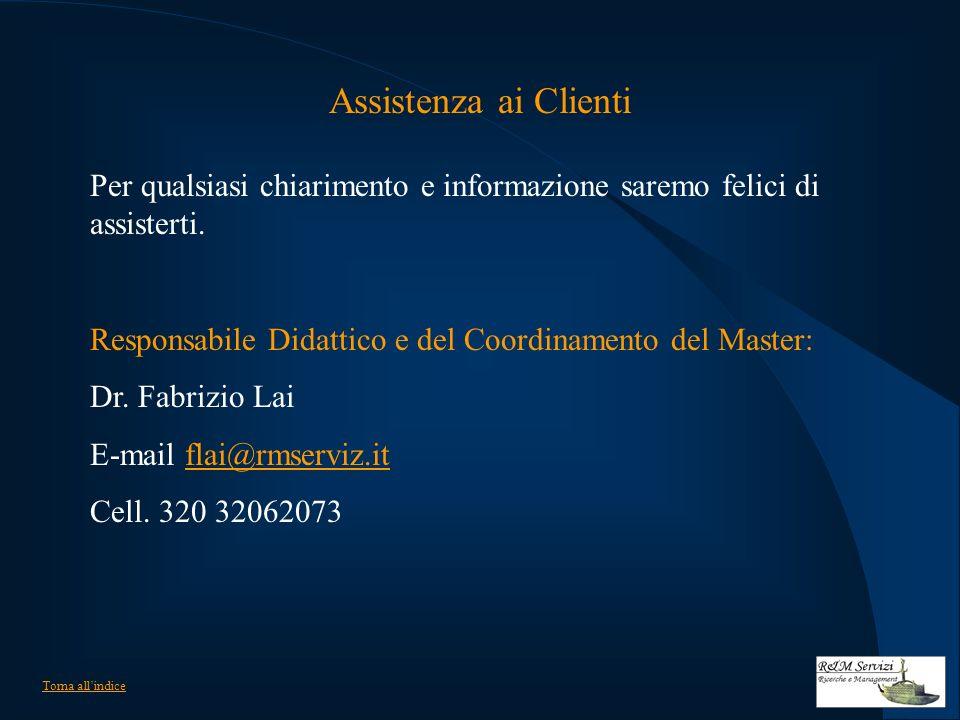 Assistenza ai Clienti Per qualsiasi chiarimento e informazione saremo felici di assisterti.