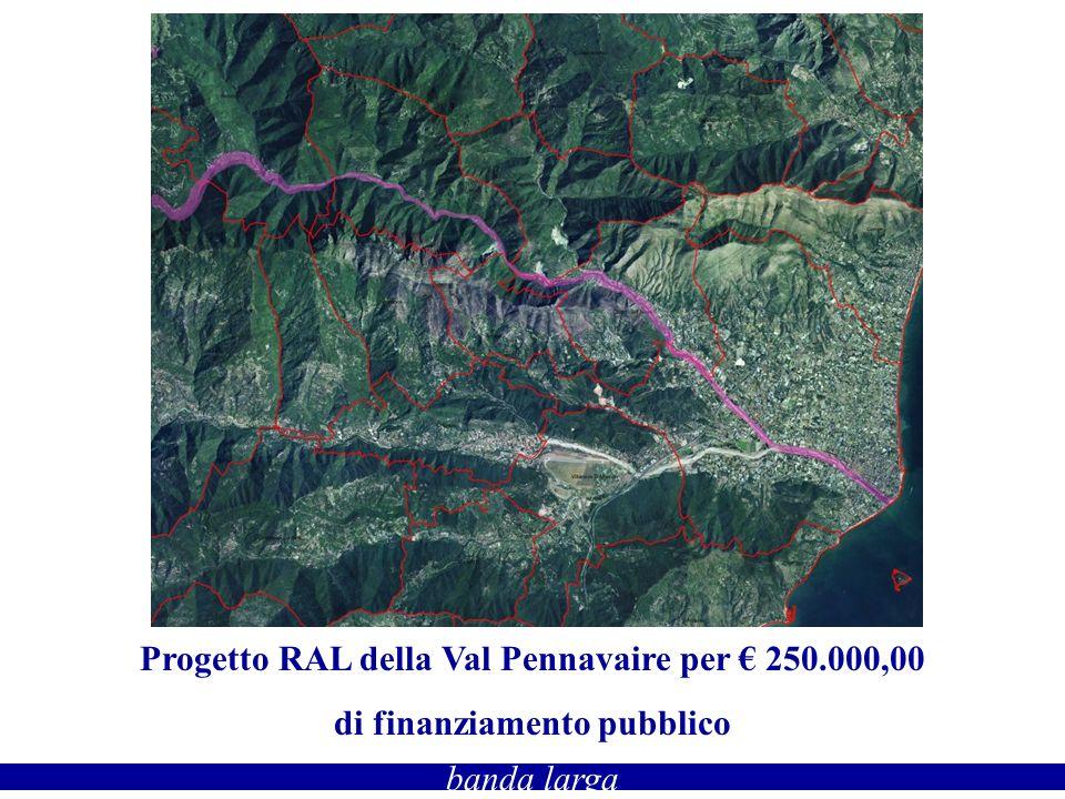 banda larga Progetto RAL della Val Pennavaire per 250.000,00 di finanziamento pubblico