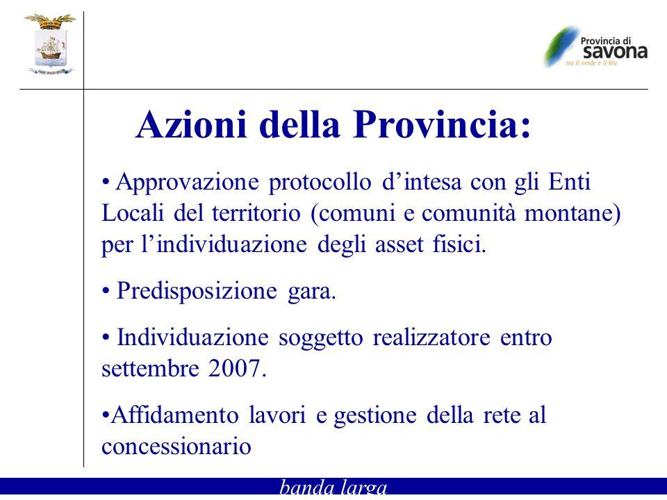Approvazione protocollo dintesa con gli Enti Locali del territorio (comuni e comunità montane) per lindividuazione degli asset fisici. Predisposizione
