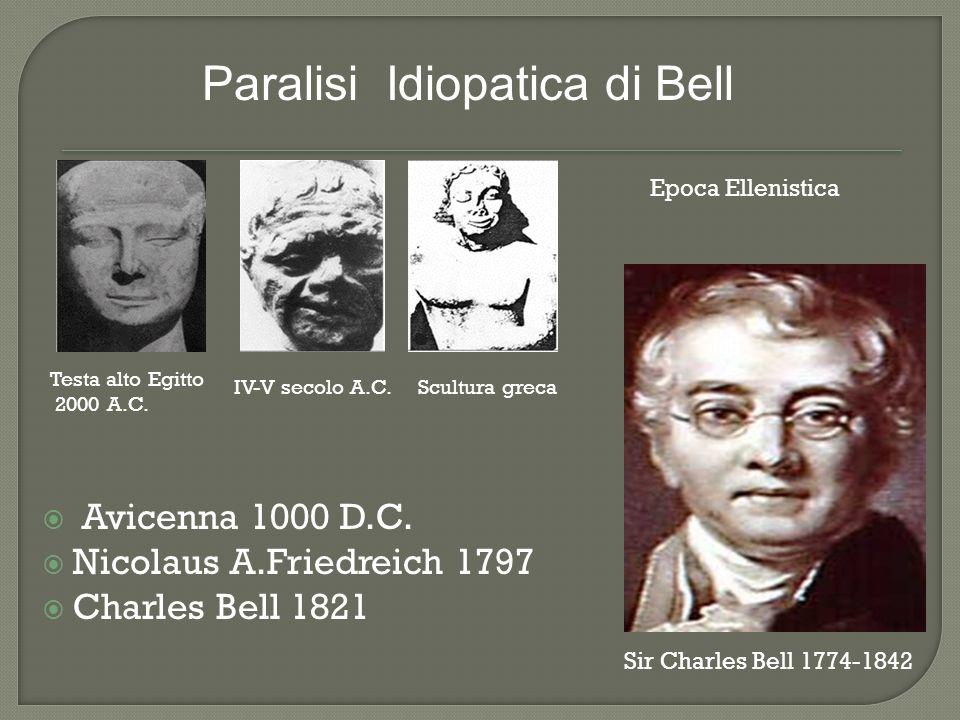 Avicenna 1000 D.C. Nicolaus A.Friedreich 1797 Charles Bell 1821 Sir Charles Bell 1774-1842 Testa alto Egitto 2000 A.C. IV-V secolo A.C.Scultura greca