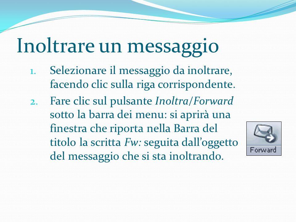 Inoltrare un messaggio 1.