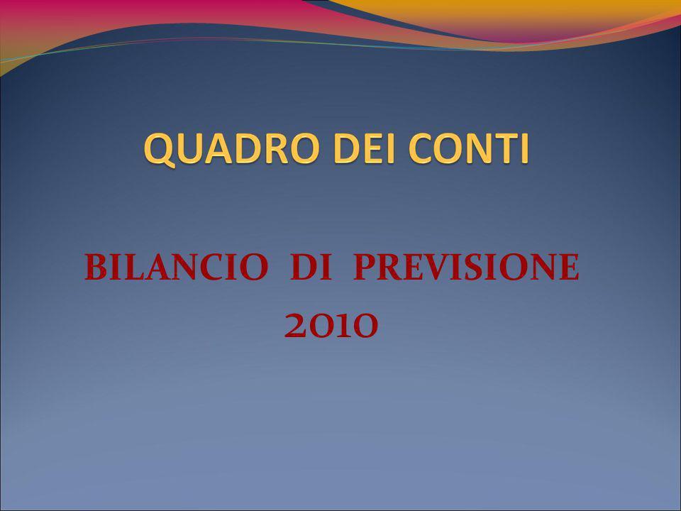 BILANCIO DI PREVISIONE 2010