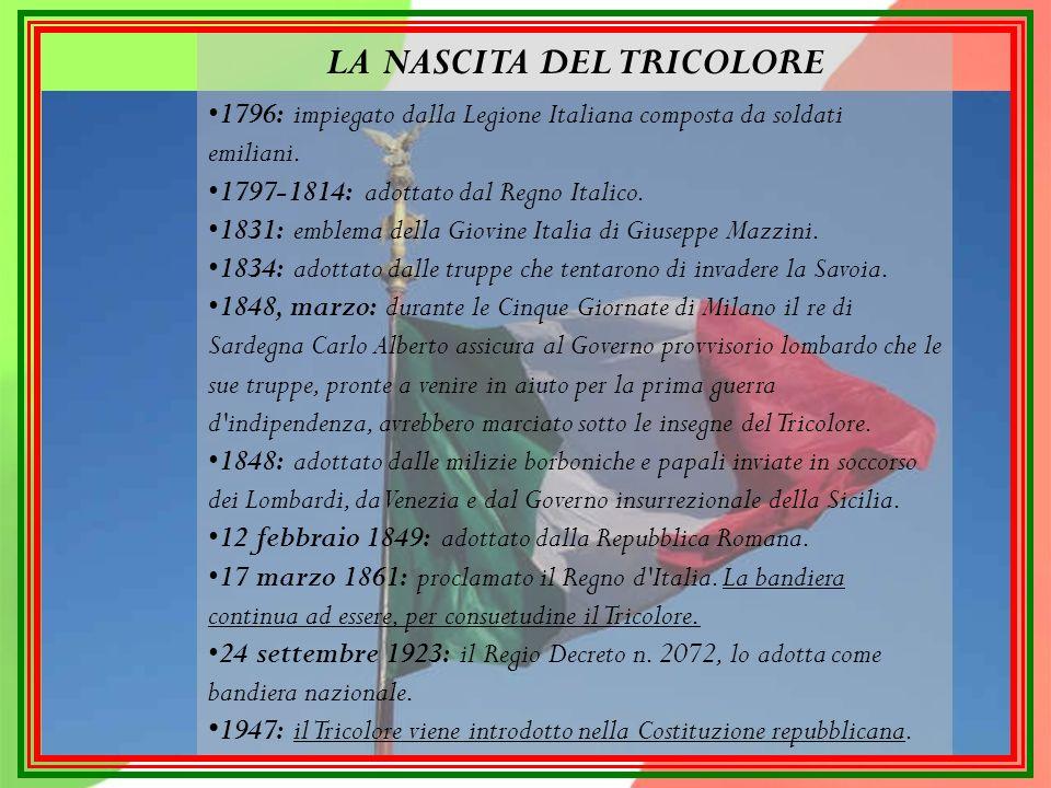 Padre del tricolore è considerato Giuseppe Compagnoni.