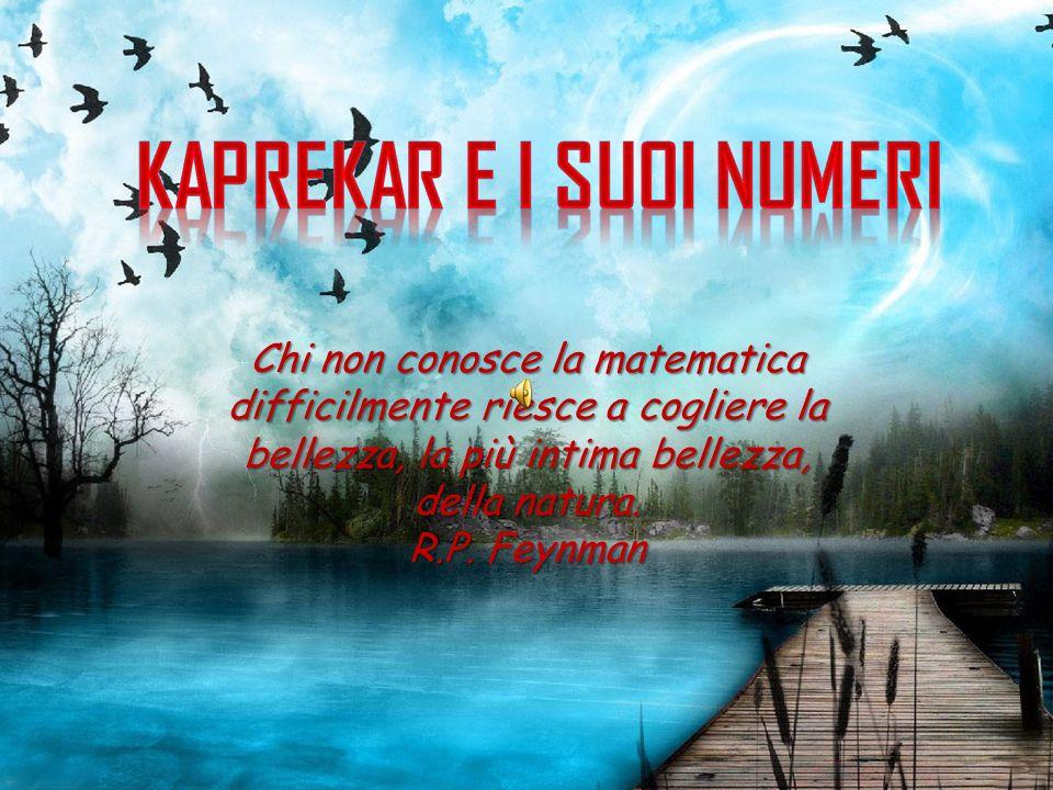 Chi non conosce la matematica difficilmente riesce a cogliere la bellezza, la più intima bellezza, della natura. R.P. Feynman