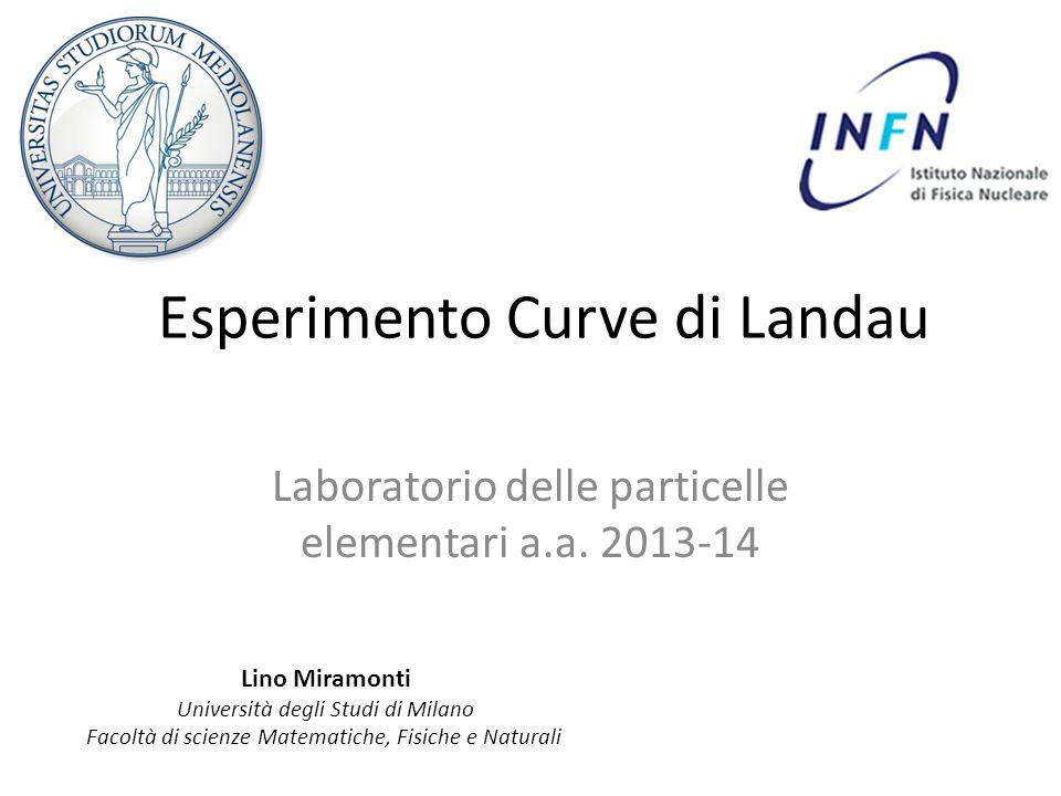 Esperimento Curve di Landau Laboratorio delle particelle elementari a.a. 2013-14 Lino Miramonti Università degli Studi di Milano Facoltà di scienze Ma