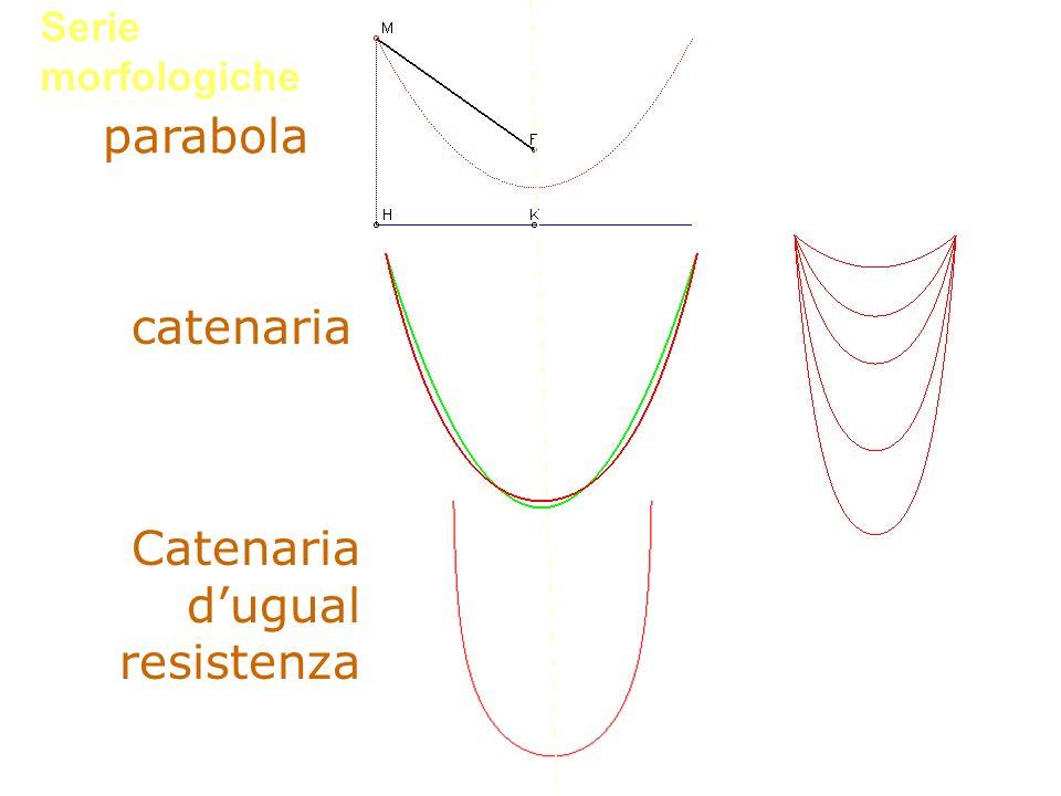Serie morfologiche parabola catenaria Catenaria dugual resistenza