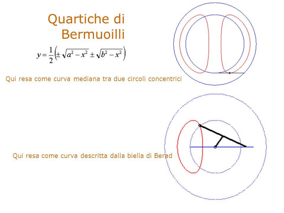 Quartiche di Bermuoilli Qui resa come curva mediana tra due circoli concentrici Qui resa come curva descritta dalla biella di Berad