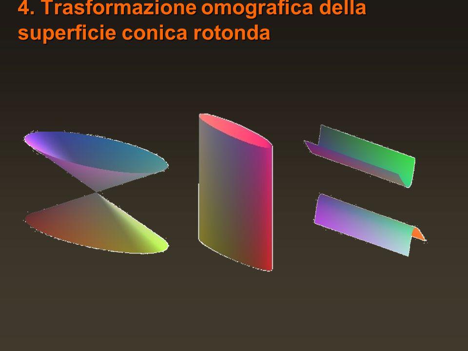 4. Trasformazione omografica della superficie conica rotonda