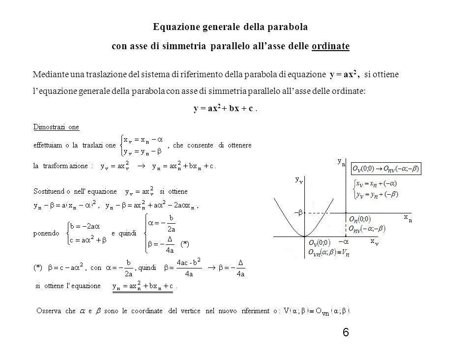 17 QUESTIONI RELATIVE ALLE RETTE TANGENTI Analizziamo questi due problemi: 1.determinare le equazioni delle rette tangenti alla parabola, condotte da un punto di note coordinate; 2.determinare lequazione della parabola tangente ad una retta di nota equazione.