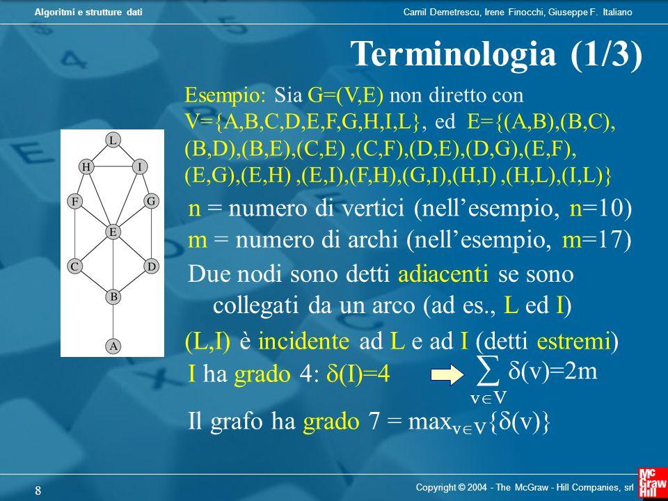 Camil Demetrescu, Irene Finocchi, Giuseppe F. ItalianoAlgoritmi e strutture dati Copyright © 2004 - The McGraw - Hill Companies, srl 8 Terminologia (1