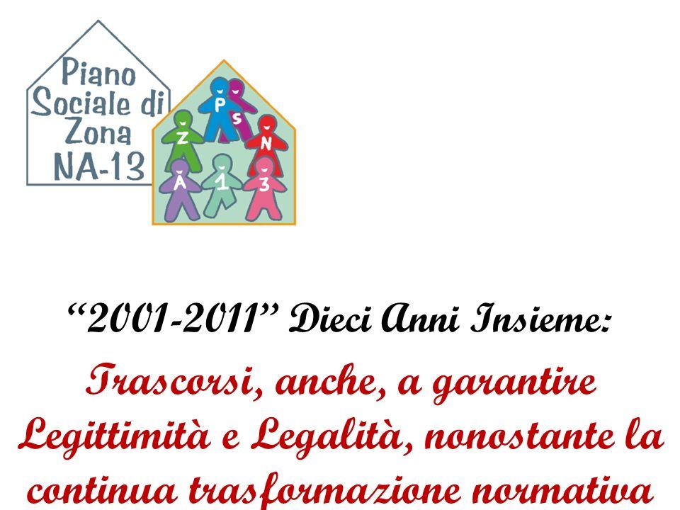 2001-2011 Dieci Anni Insieme: Trascorsi, anche, a garantire Legittimità e Legalità, nonostante la continua trasformazione normativa