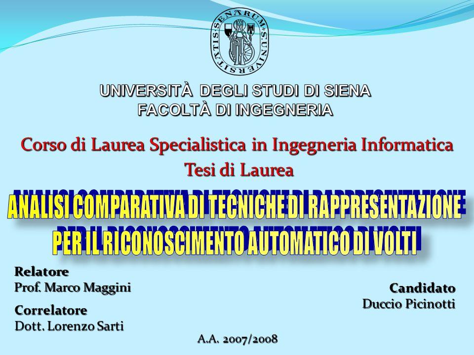 Candidato Duccio Picinotti Relatore Prof. Marco Maggini A.A. 2007/2008 Correlatore Dott. Lorenzo Sarti