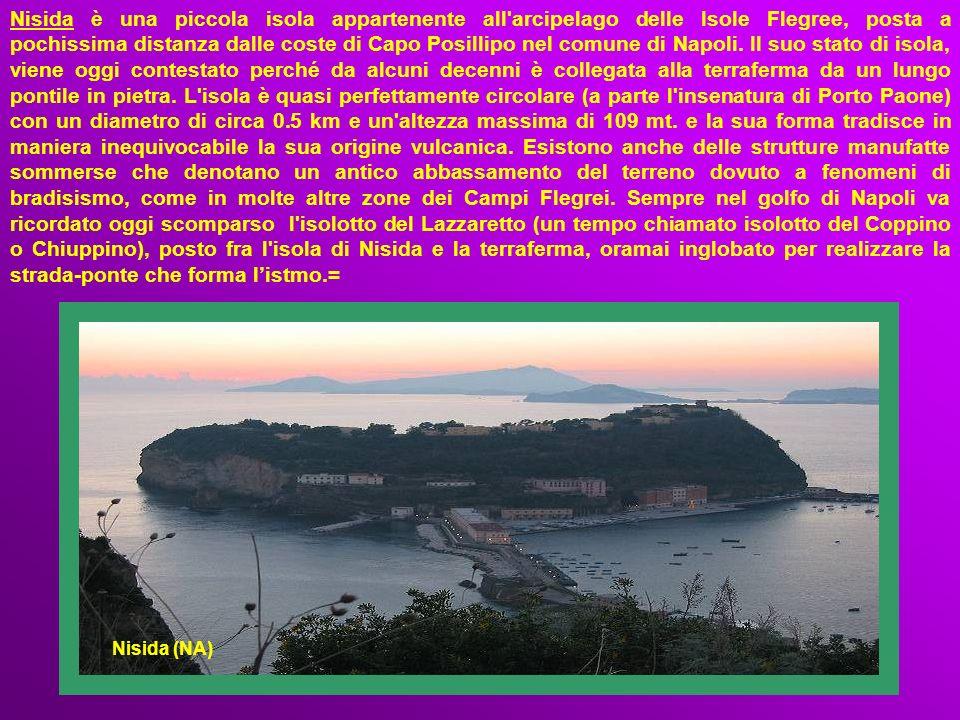 Nisida è una piccola isola appartenente all arcipelago delle Isole Flegree, posta a pochissima distanza dalle coste di Capo Posillipo nel comune di Napoli.