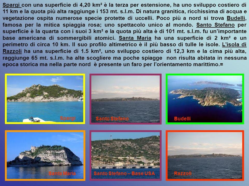 LARCIPELAGO DELLA MADDALENA, oltre a una serie di piccoli isolotti e scogli rocciosi, è formato da un gruppo di sette isole di granito a nord-est dell