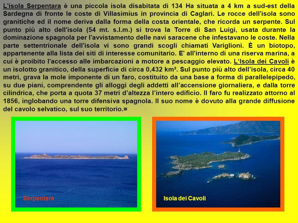 LARCIPELAGO DEL SULCIS nel sud-ovest della Sardegna di fronte le coste di Carbonia – Iglesias comprende due isole maggiori e diversi isolotti, uno sol