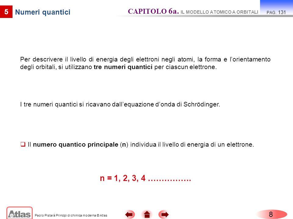 Paolo Pistarà Principi di chimica moderna © Atlas 9 5 Numeri quantici CAPITOLO 6a.