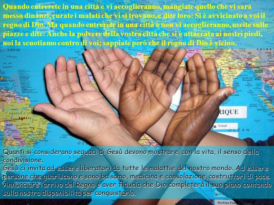 Desiderare e offrire pace e giustizia, curare, condividere vita e mensa al di là dei pregiudizi e degli scrupoli legali sono modi concreti di rendere