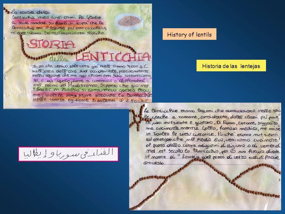 History of lentils Historia de las lentejas