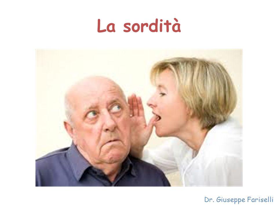 La sordità Dr. Giuseppe Fariselli