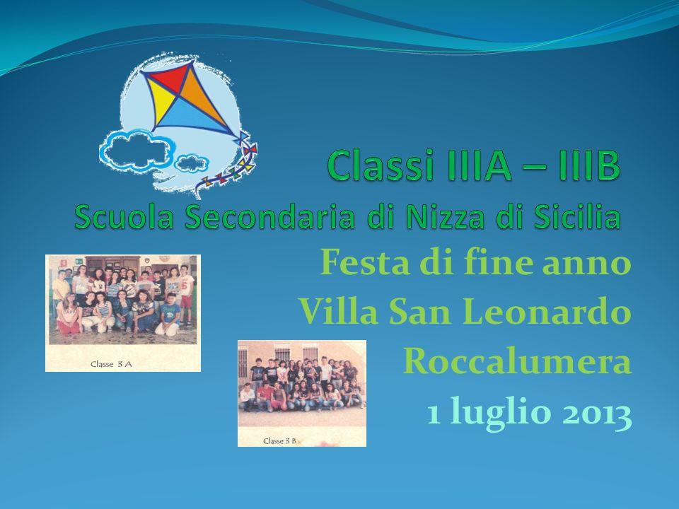 Festa di fine anno Villa San Leonardo Roccalumera 1 luglio 2013
