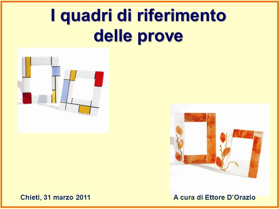 I quadri di riferimento delle prove Chieti, 31 marzo 2011A cura di Ettore DOrazio