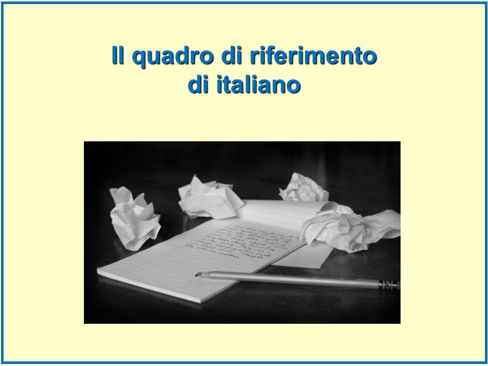 Il quadro di riferimento di italiano
