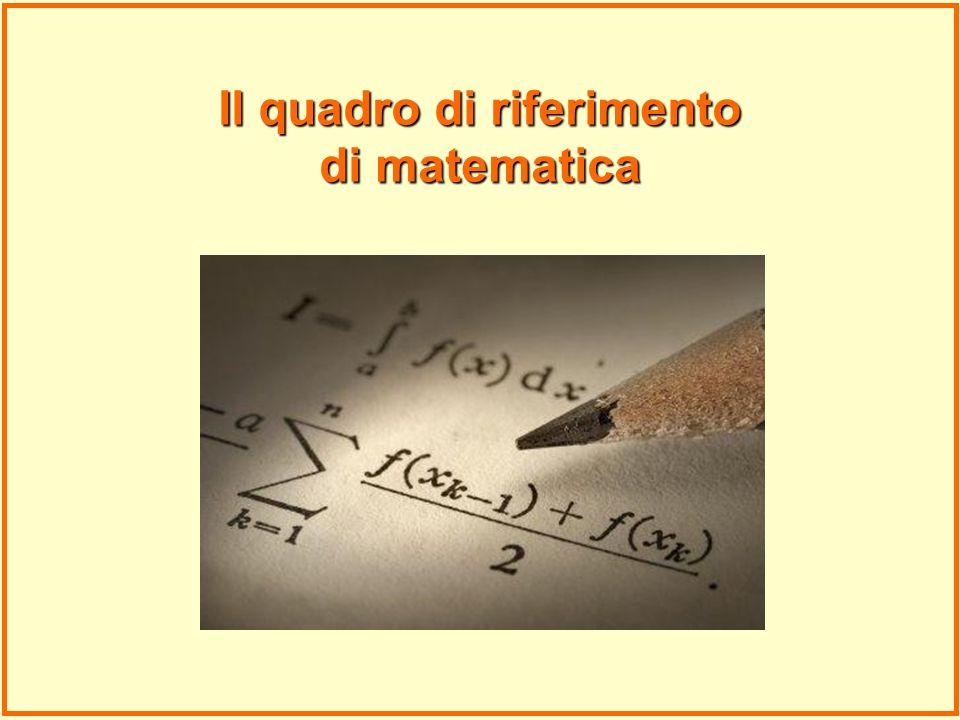 Il quadro di riferimento di matematica