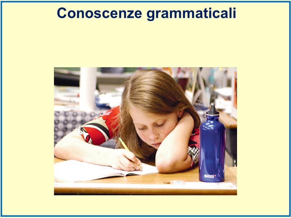 Conoscenze grammaticali