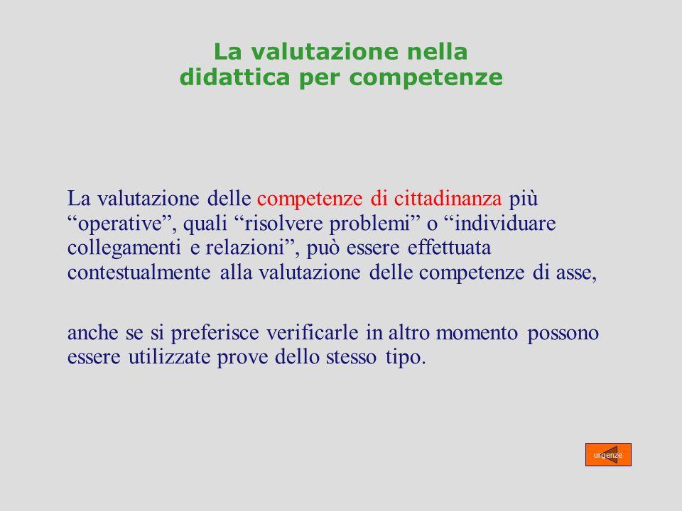 La valutazione delle competenze di cittadinanza più operative, quali risolvere problemi o individuare collegamenti e relazioni, può essere effettuata
