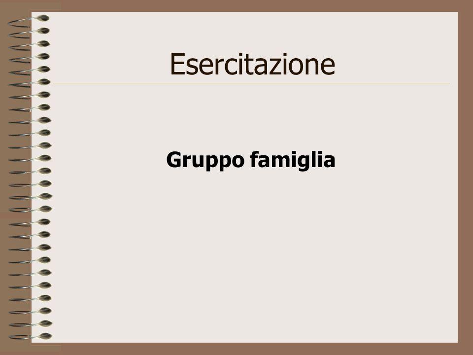 Esercitazione Gruppo famiglia