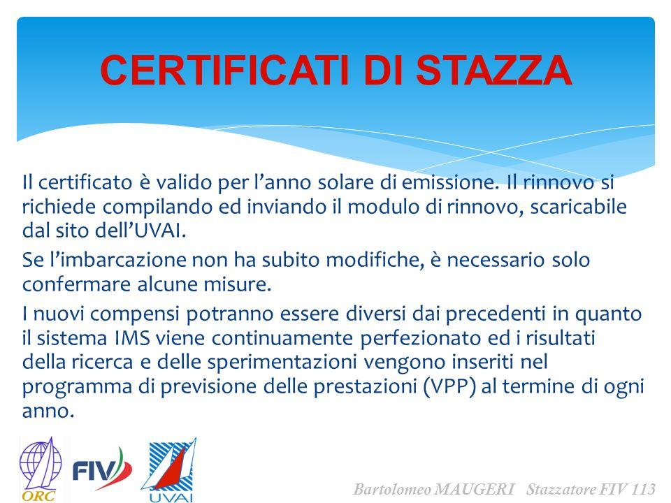 Il certificato è valido per lanno solare di emissione. Il rinnovo si richiede compilando ed inviando il modulo di rinnovo, scaricabile dal sito dellUV