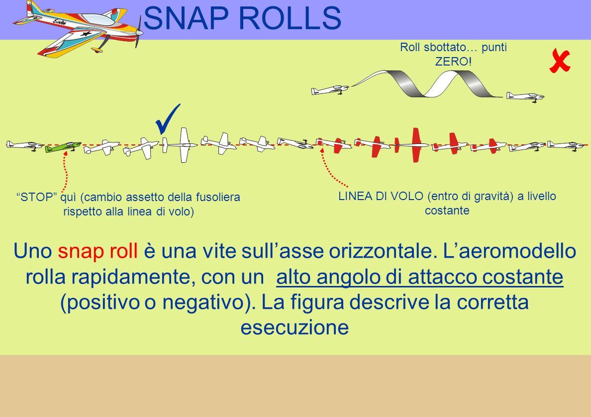 SNAP ROLLS Uno snap roll è una vite sullasse orizzontale.