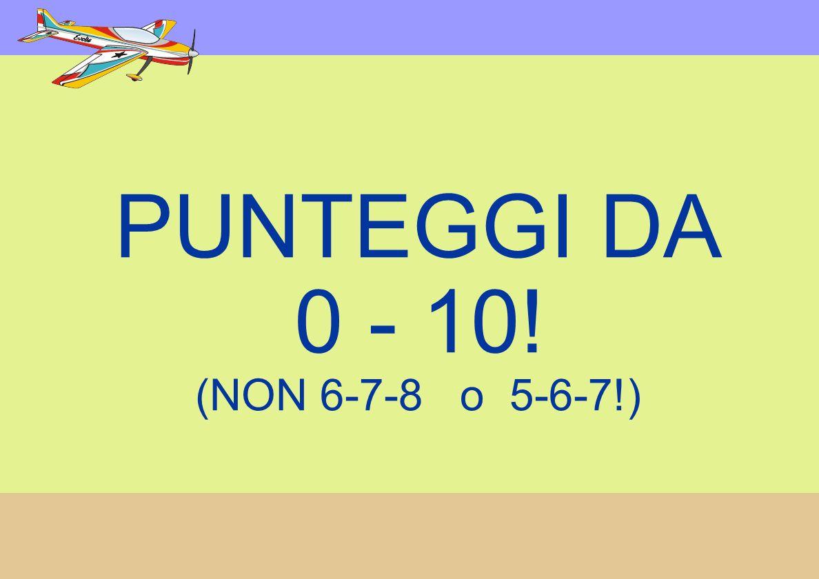PUNTEGGI DA 0 - 10! (NON 6-7-8 o 5-6-7!)