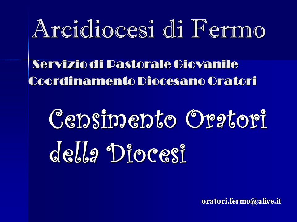 Arcidiocesi di Fermo Servizio di Pastorale Giovanile Coordinamento Diocesano Oratori Arcidiocesi di Fermo Servizio di Pastorale Giovanile Coordinament