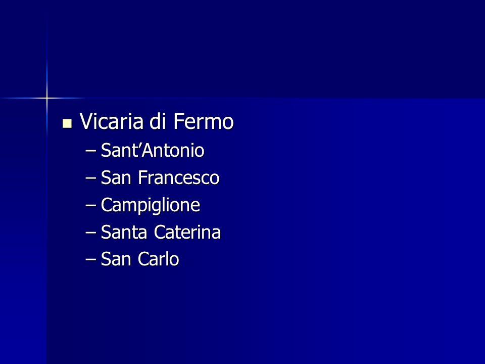 Vicaria di Fermo Vicaria di Fermo –SantAntonio –San Francesco –Campiglione –Santa Caterina –San Carlo