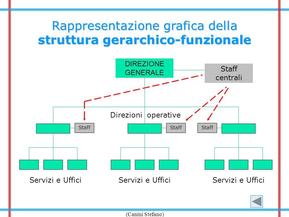 (Canini Stefano) Rappresentazione grafica della struttura gerarchico-funzionale Direzioni operative DIREZIONE GENERALE Servizi e Uffici Staff centrali