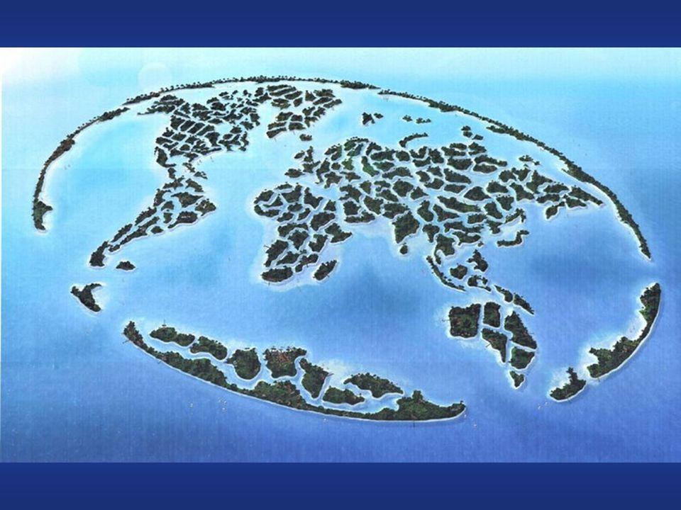 Le isole globo 300 isole artificiali con la forma della terra.